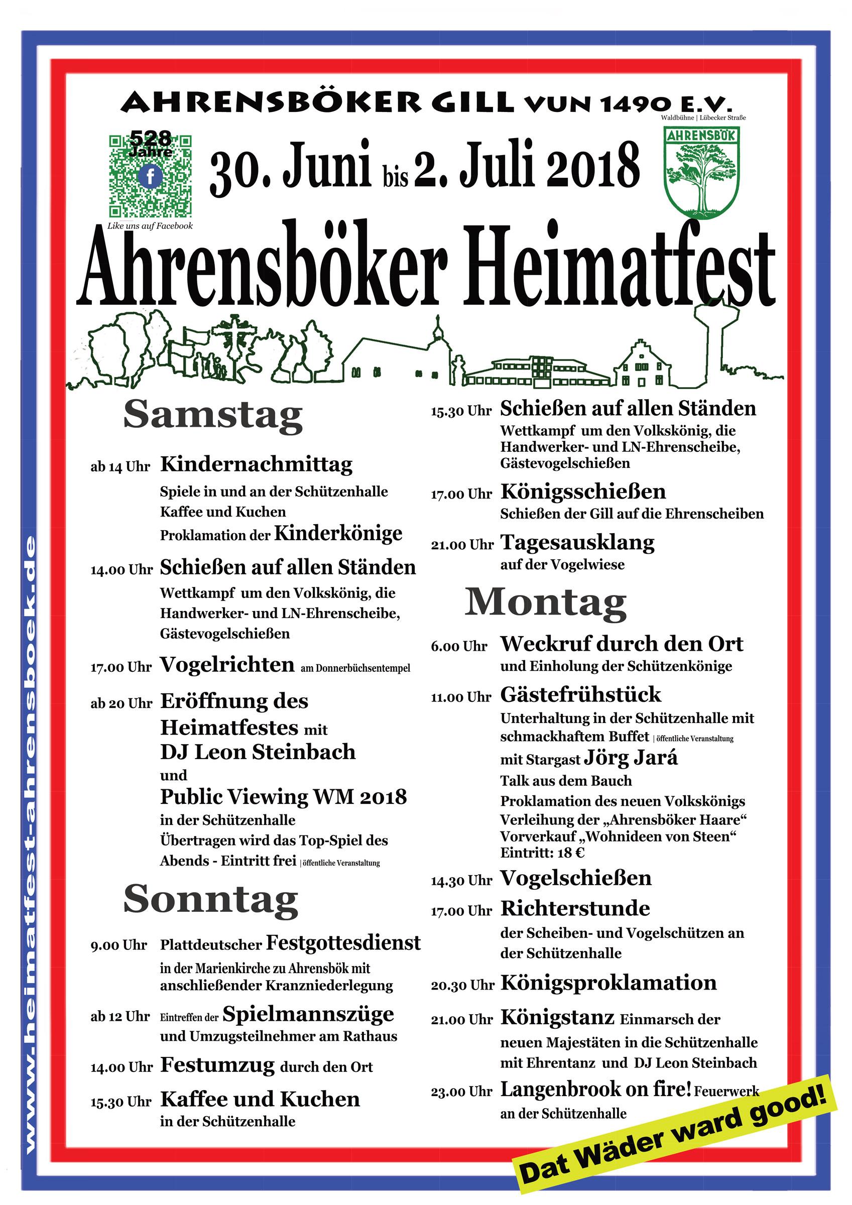 Heimatfest 2018 – Das Programm