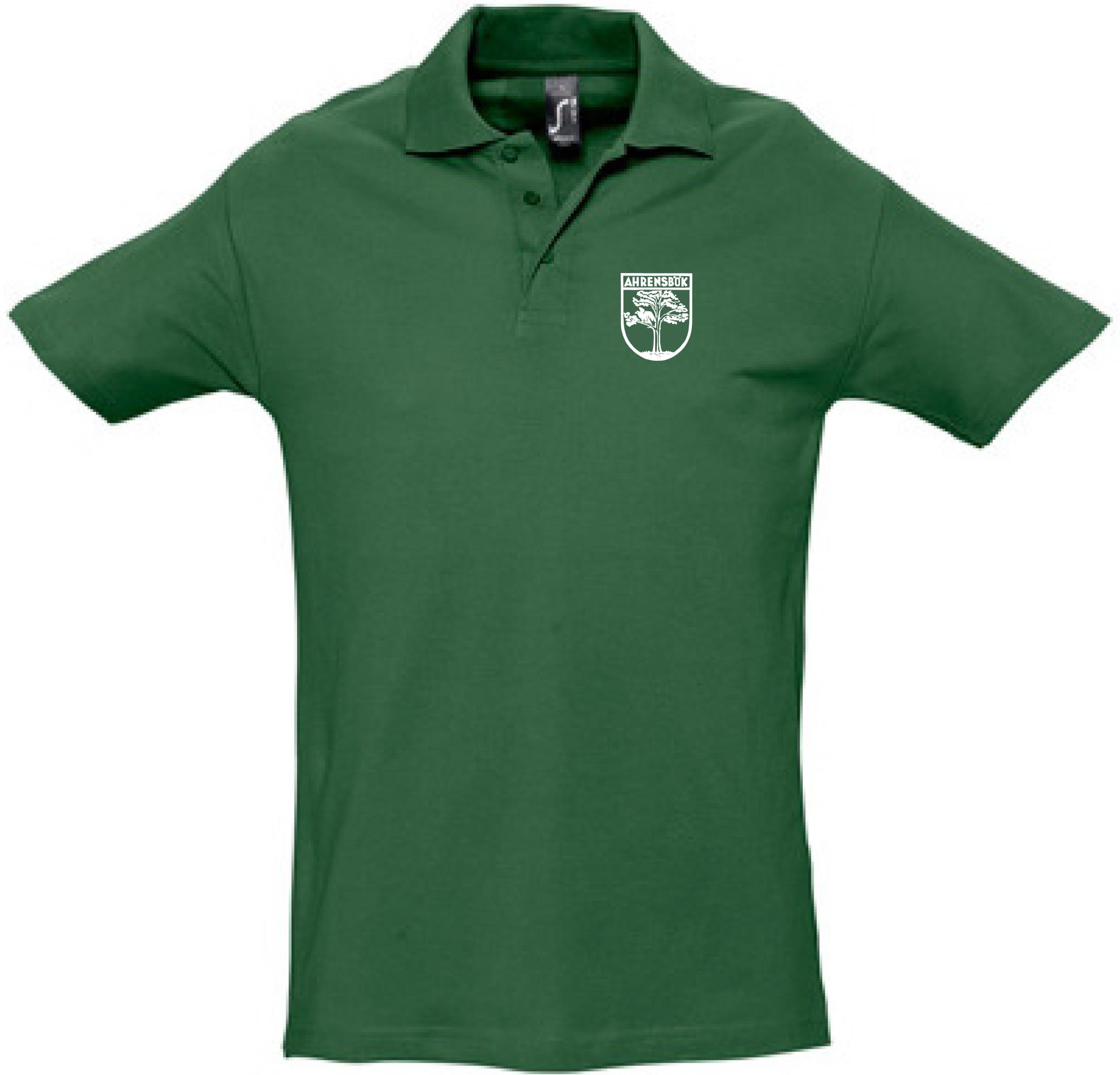 Polo-Shirt grün mit Stick Wappen in weiß